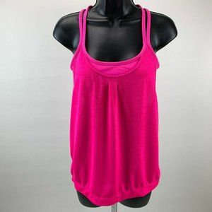 Athleta Tank Top S Built in Bra Strappy Crossback